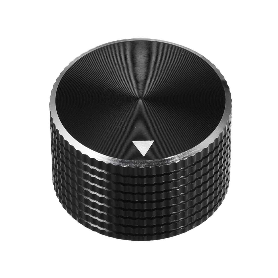 Stereo Knob, 25*6*15.5 mm Aluminium Alloy, Volume Control Knobs, Black