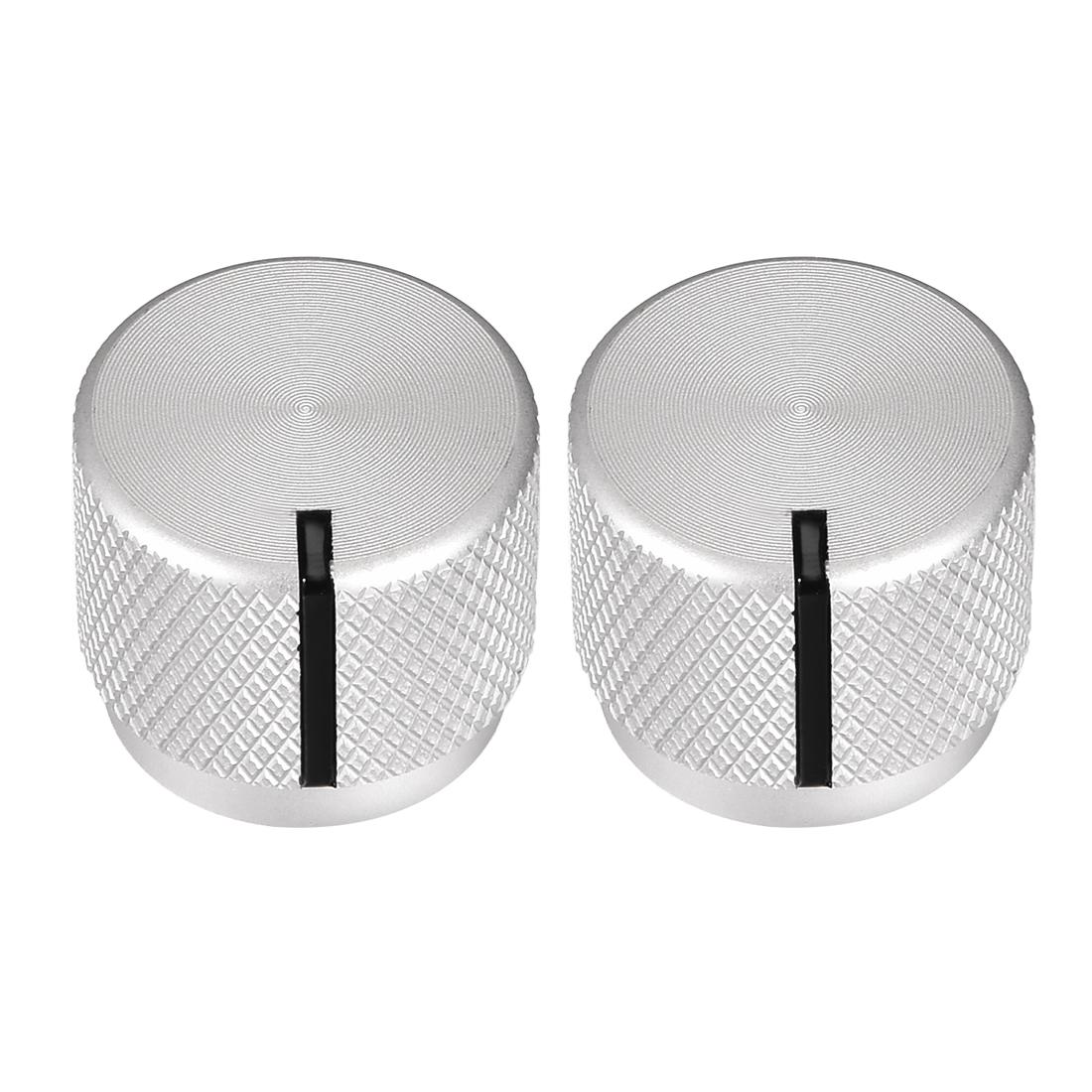 Stereo Knob, 20*6*17 mm Aluminium Alloy, Volume Control Knobs, Sliver 2pcs