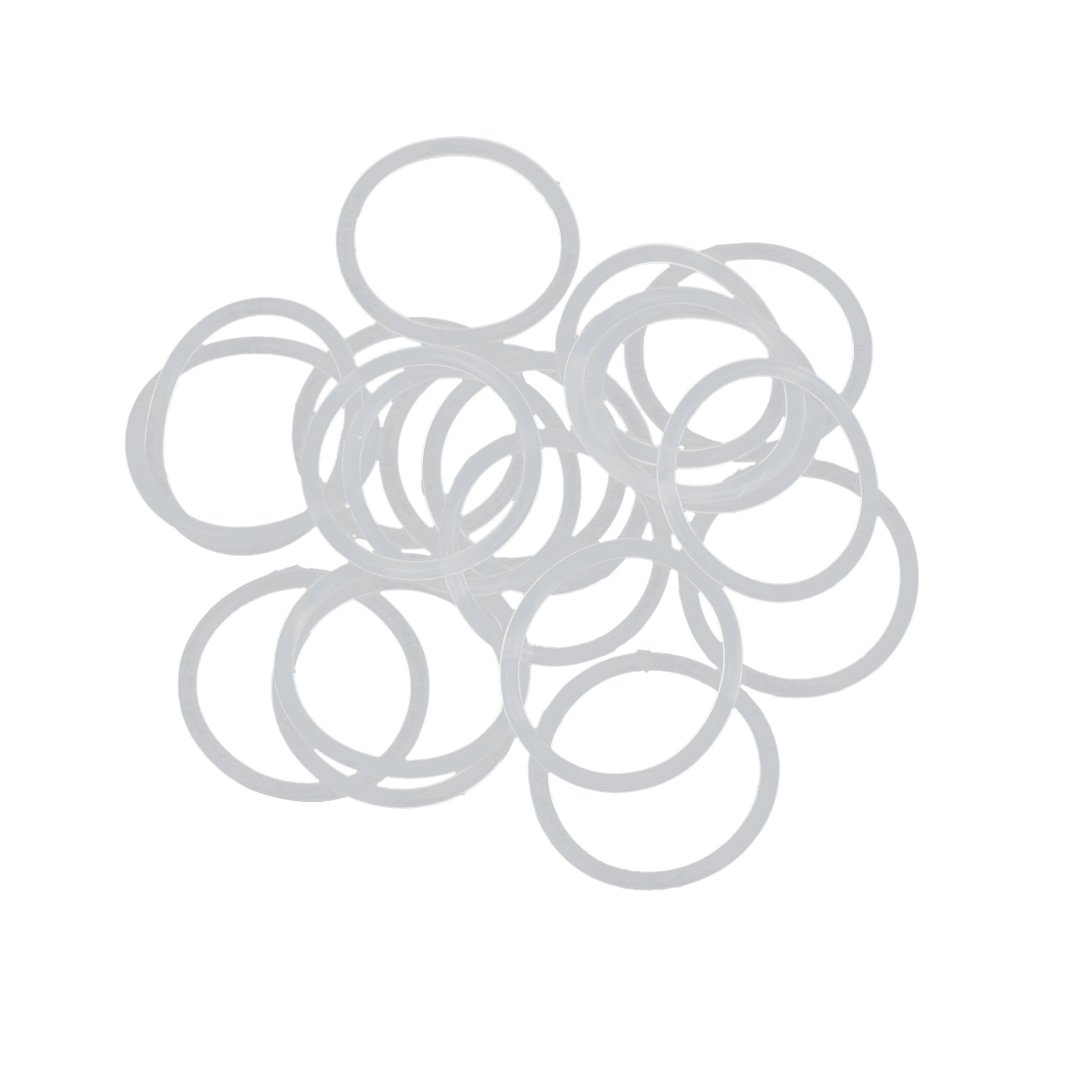 20pcs White Silicone Rubber O-Ring Seal Gasket Washer 20 x 1.5mm for Car