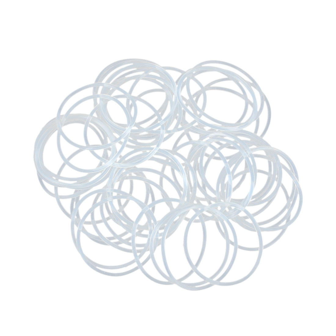 50pcs White Silicone Rubber O-Ring Seal Gasket Washer 32 x 1.5mm for Car