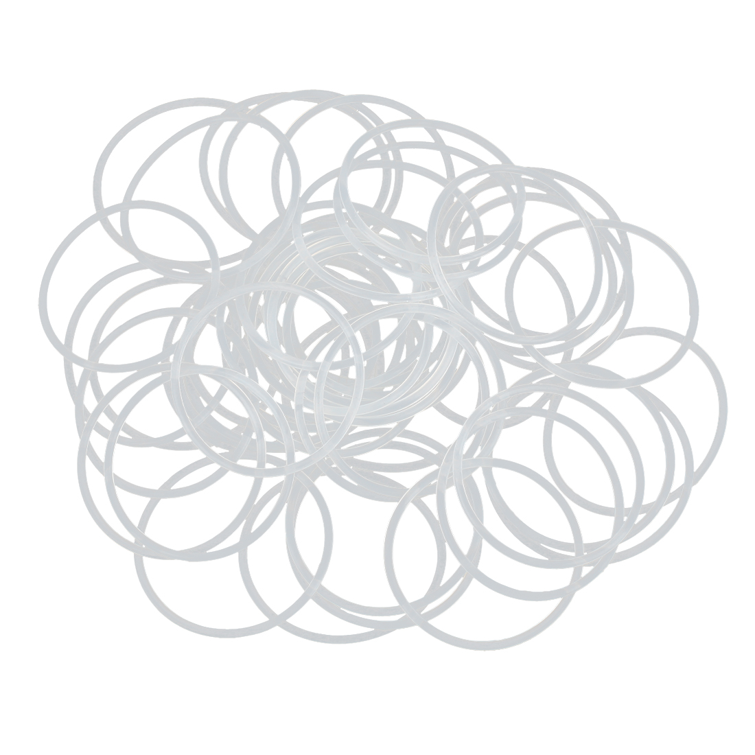 50pcs White Silicone Rubber O-Ring Seal Gasket Washer 36 x 1.5mm for Car