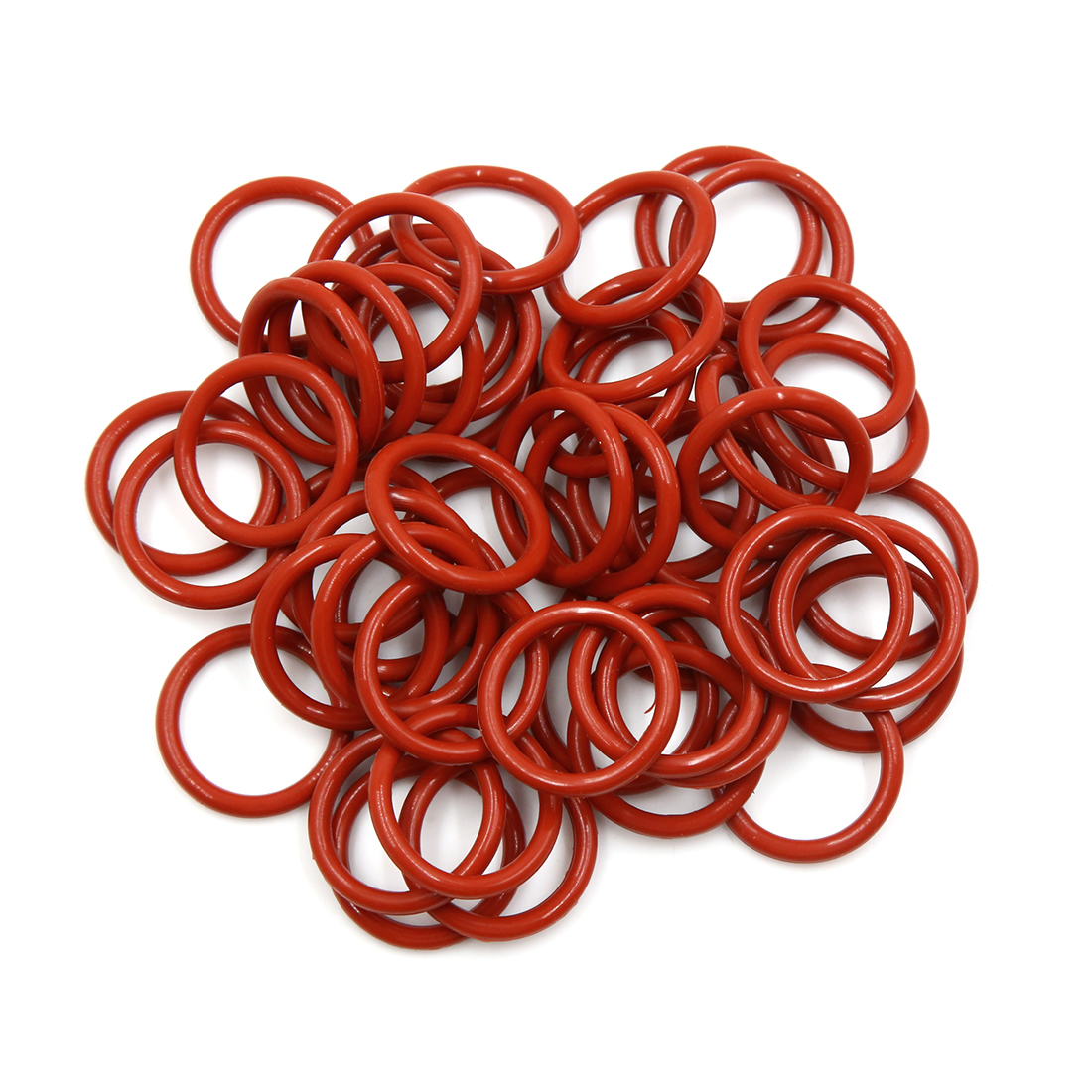 50pcs Brown Silicone Rubber O-Ring VMQ Seal Gasket Washer for Car 27mm x 3.1mm
