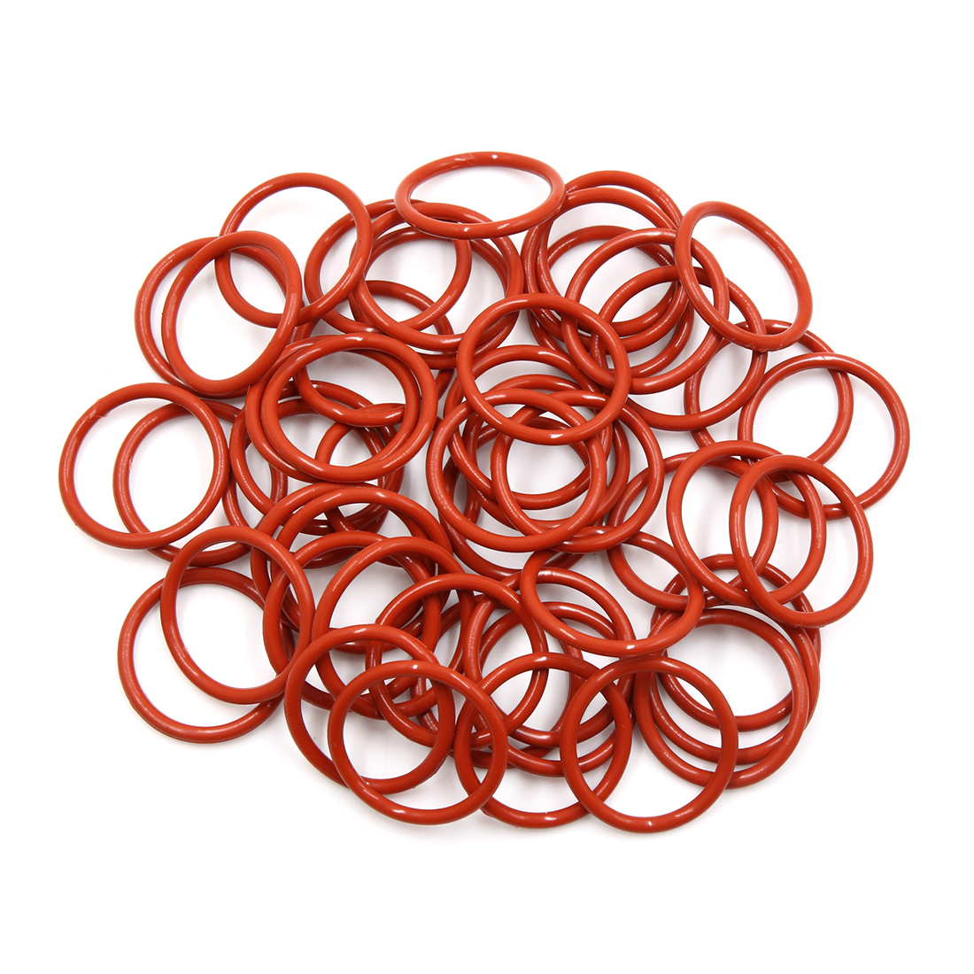 50pcs Brown Silicone Rubber O-Ring VMQ Seal Gasket Washer for Car 34mm x 3.1mm