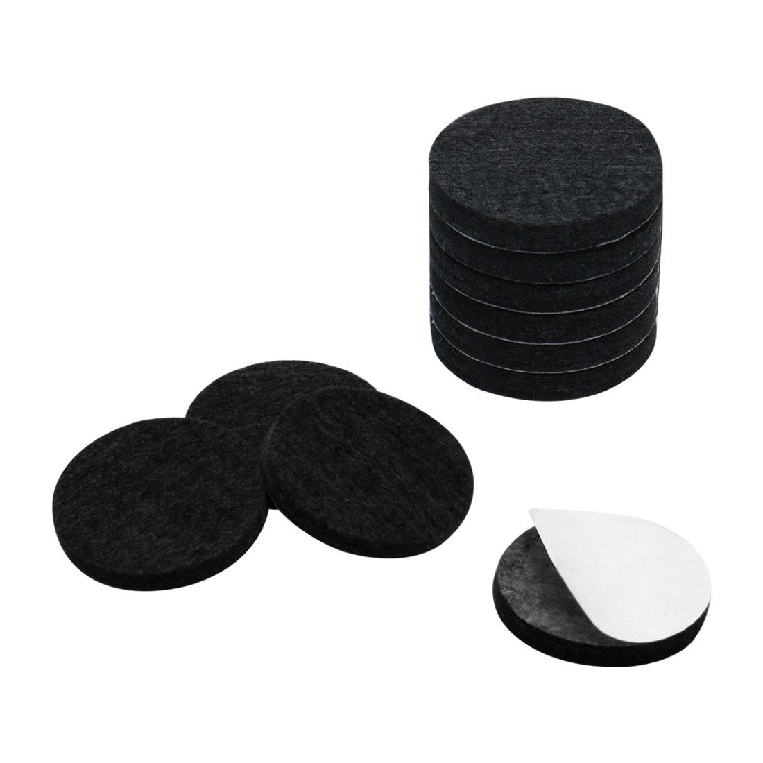 """Furniture Felt Pads Round 1 1/4"""" Anti-scratch for Furniture Cabinet Black 10pcs"""
