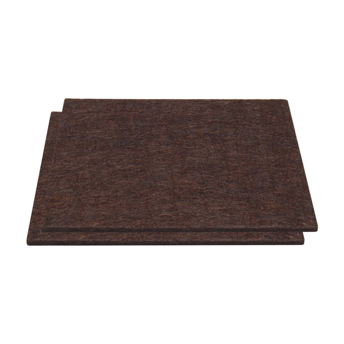 "Furniture Felt Pad Rectangle 5 7/8"" x 4 3/8"" Anti Scratch for Table Brown 2pcs"