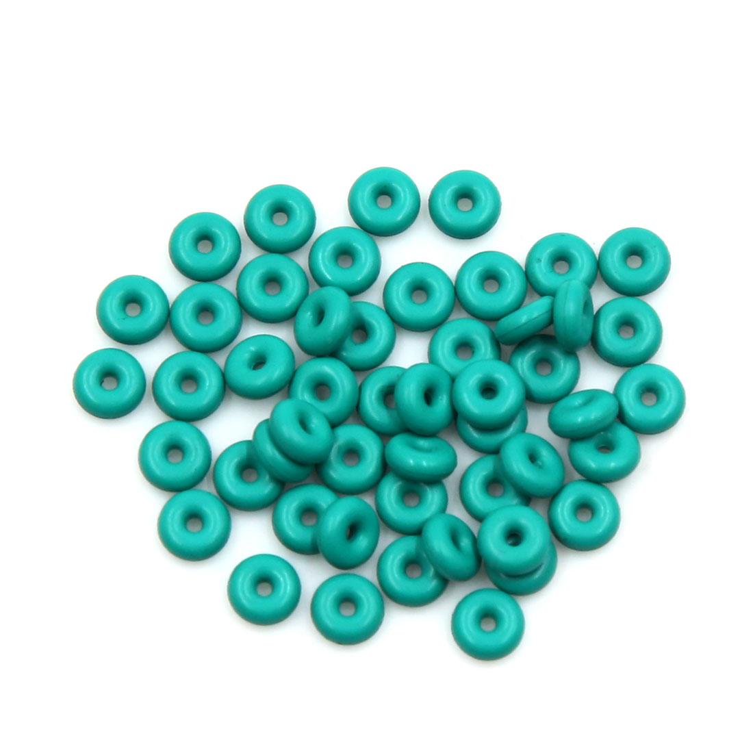 50pcs Green Universal FKM O-Ring Sealing Gasket Washer for Car 5mm x 2mm