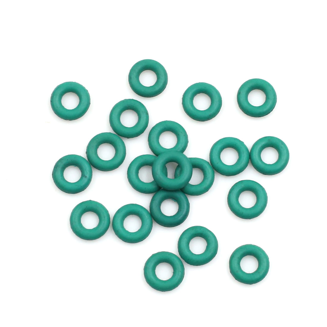 20pcs Green Universal FKM O-Ring Sealing Gasket Washer for Car 7mm x 2mm