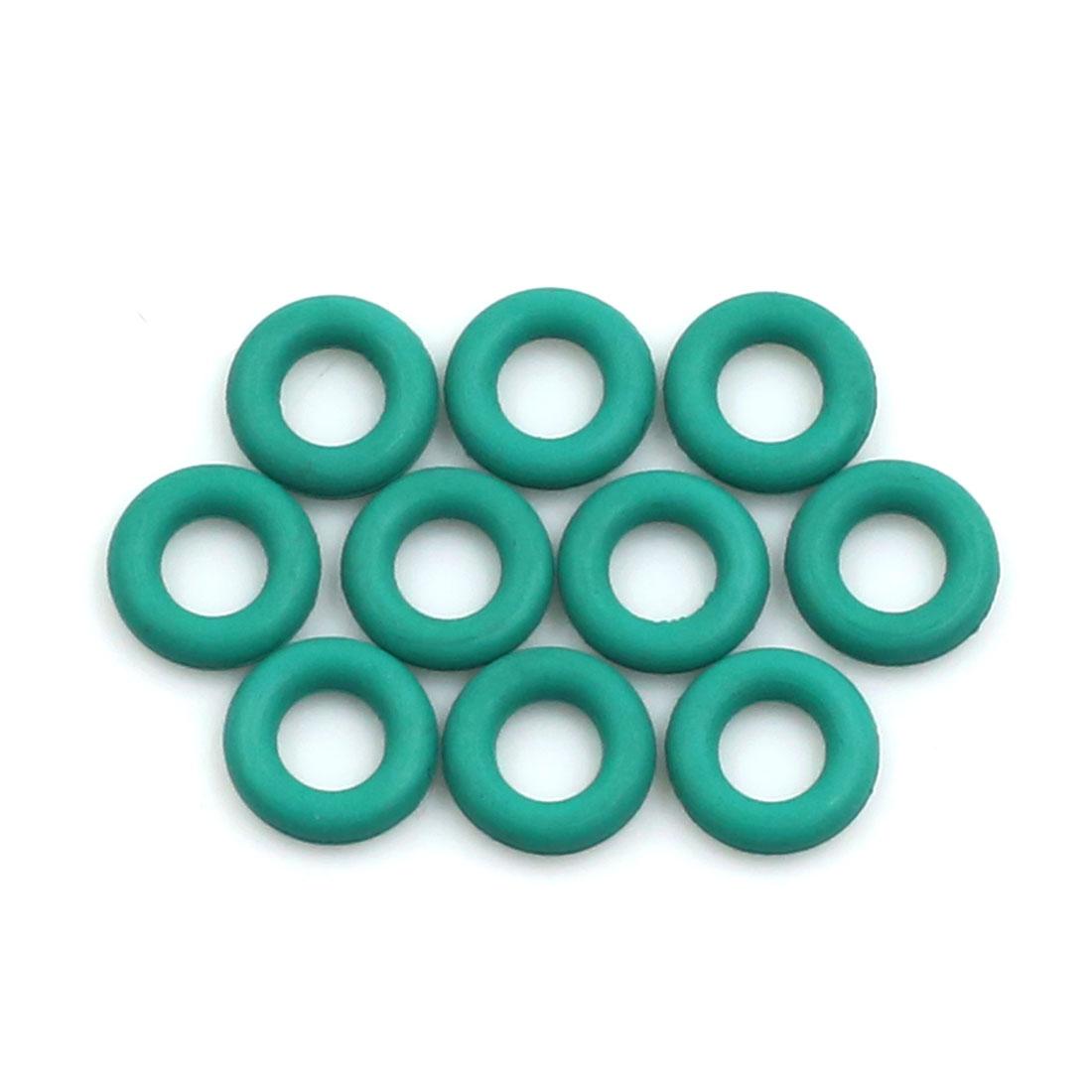 10pcs Green Universal FKM O-Ring Sealing Gasket Washer for Car 8mm x 2mm