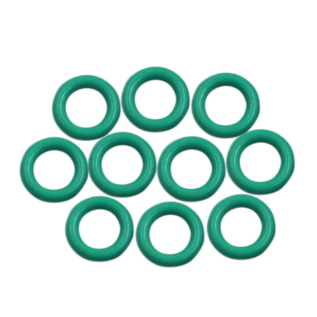 10pcs Green Universal FKM O-Ring Sealing Gasket Washer for Car 9mm x 2mm