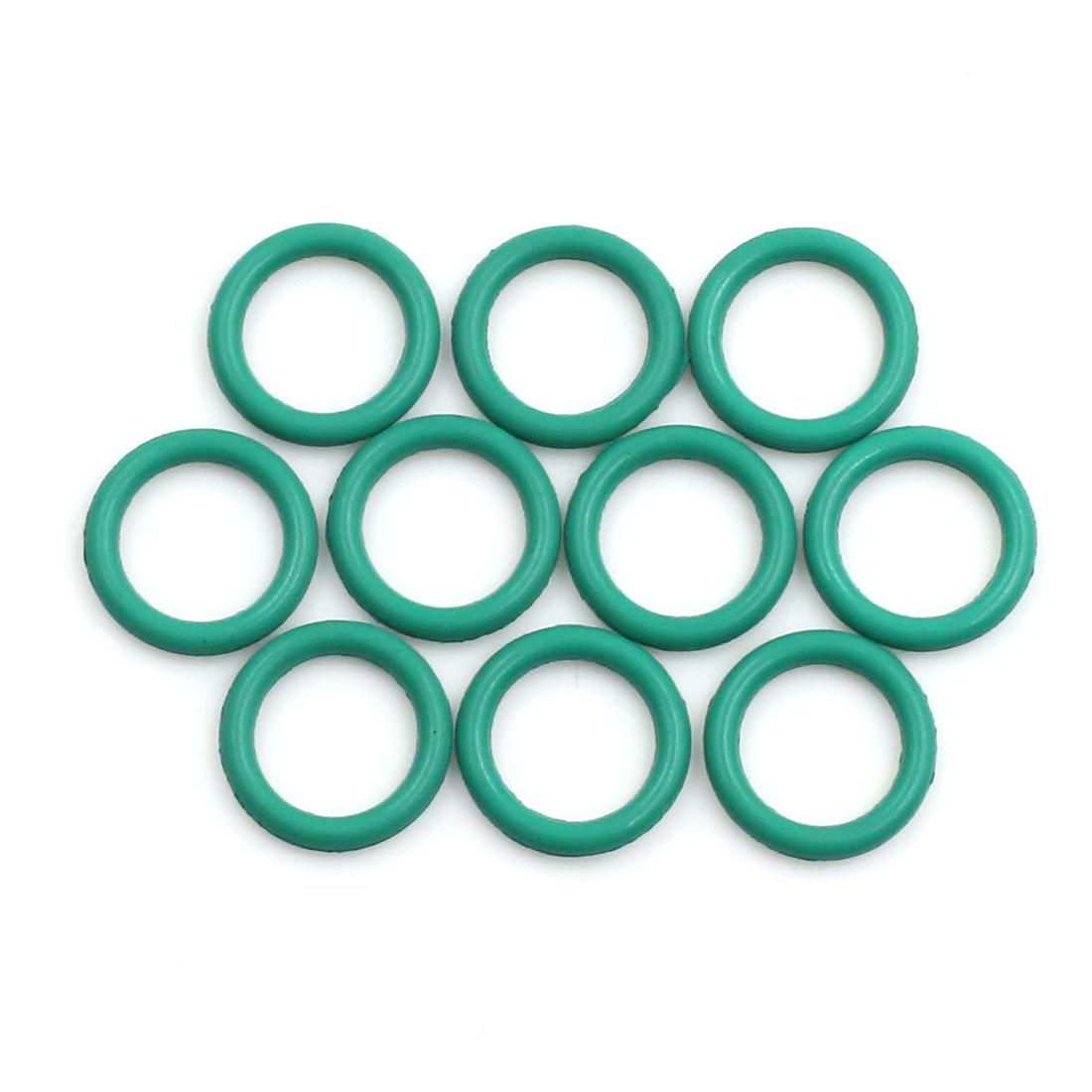 10pcs Green Universal FKM O-Ring Sealing Gasket Washer for Car 13mm x 2mm