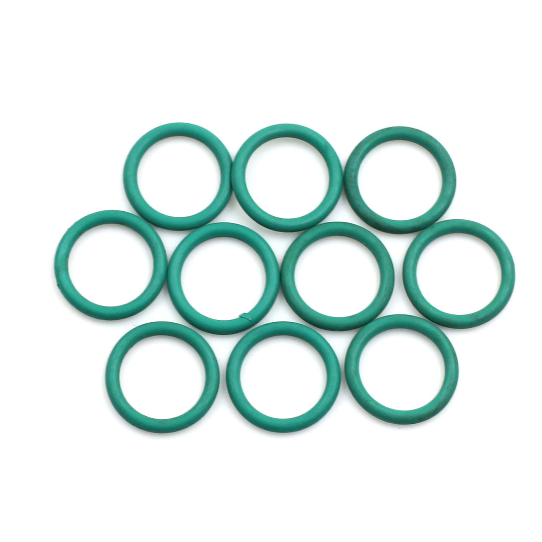 10pcs Green Universal FKM O-Ring Sealing Gasket Washer for Car 16mm x 2mm