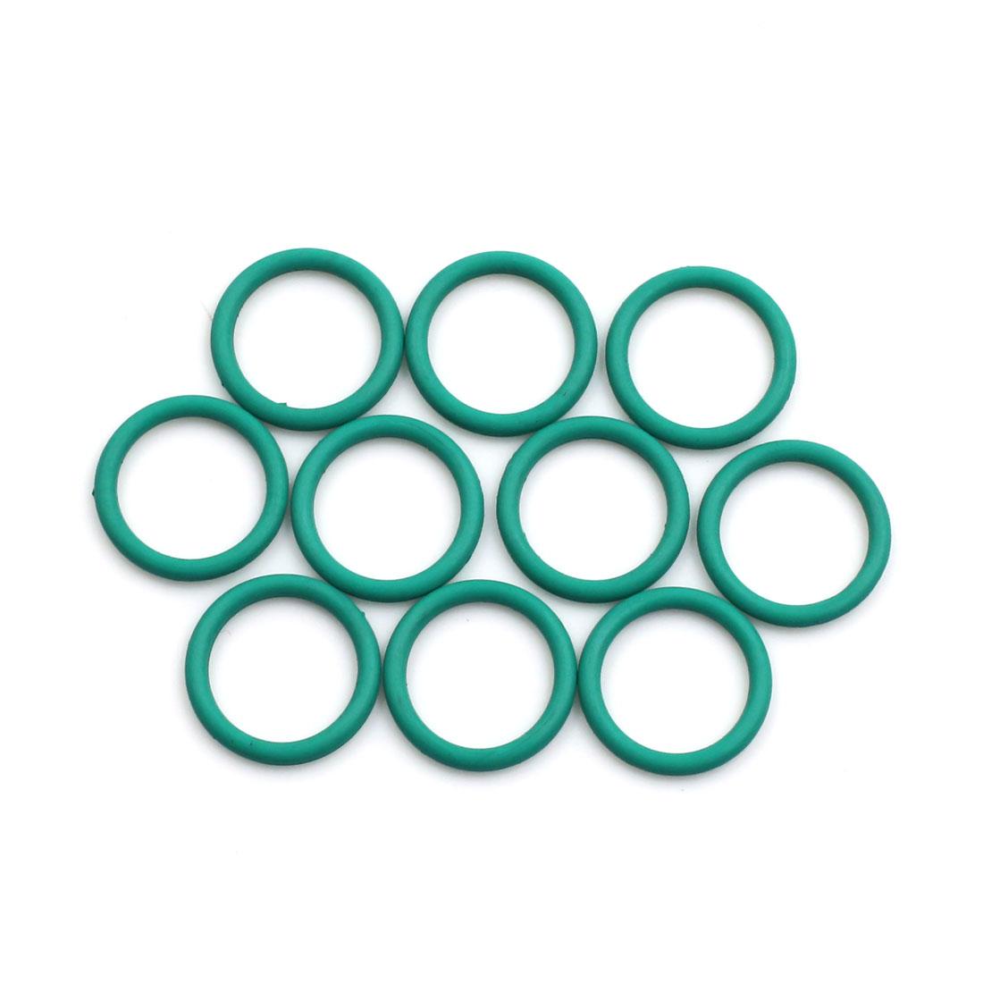 10pcs Green Universal FKM O-Ring Sealing Gasket Washer for Car 17mm x 2mm