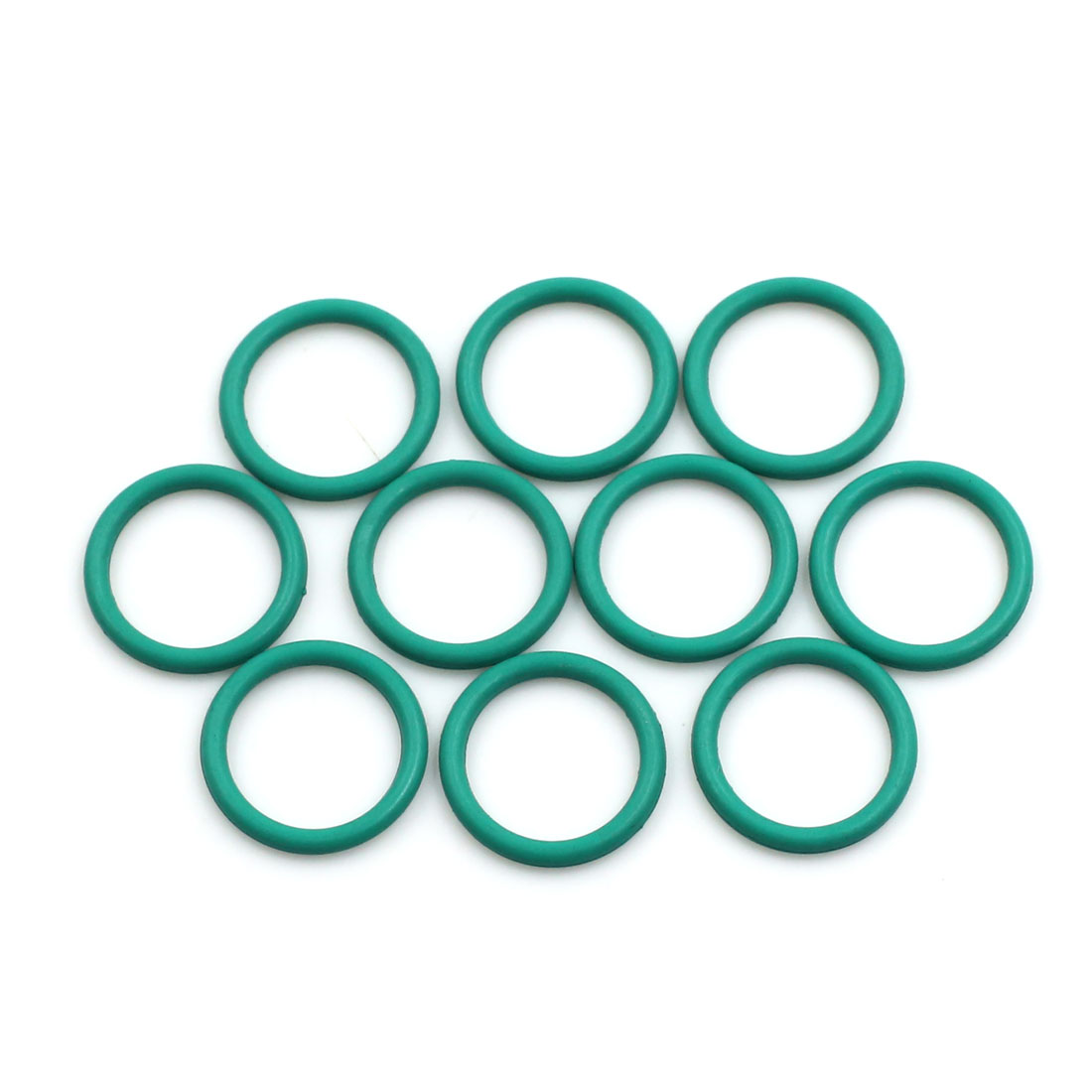 10pcs Green Universal FKM O-Ring Sealing Gasket Washer for Car 18mm x 2mm