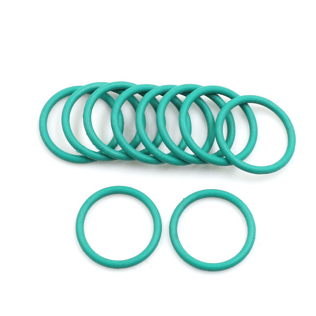 10pcs Green Universal FKM O-Ring Sealing Gasket Washer for Car 20mm x 2mm