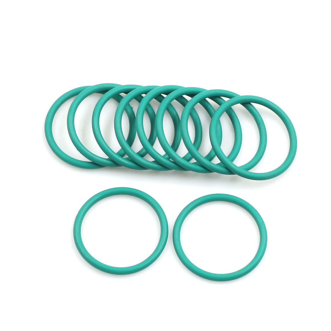 10pcs Green Universal FKM O-Ring Sealing Gasket Washer for Car 24mm x 2mm