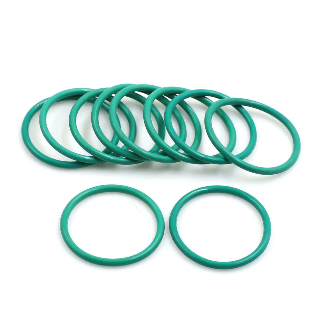 10pcs Green Universal FKM O-Ring Sealing Gasket Washer for Car 26mm x 2mm