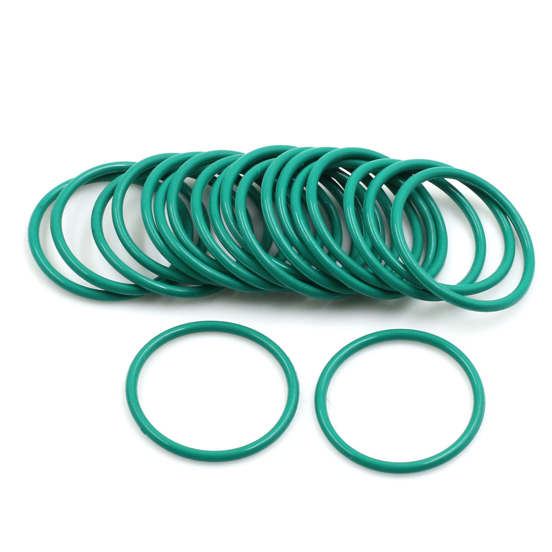 20pcs Green Universal FKM O-Ring Sealing Gasket Washer for Car 28mm x 2mm