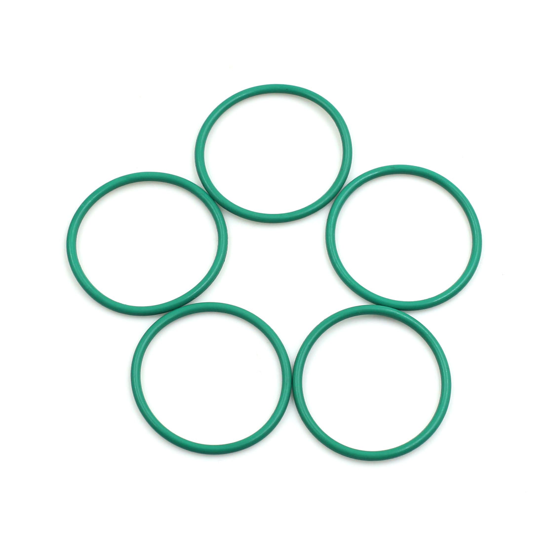 5pcs Green Universal FKM O-Ring Sealing Gasket Washer for Car 30mm x 2mm