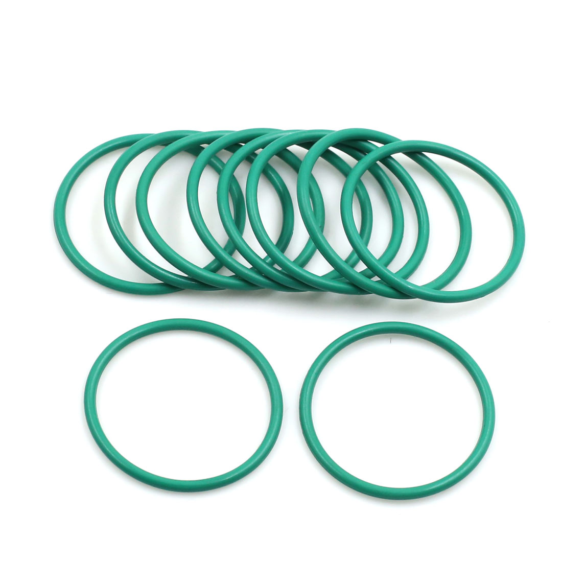 10pcs Green Universal FKM O-Ring Sealing Gasket Washer for Car 30mm x 2mm