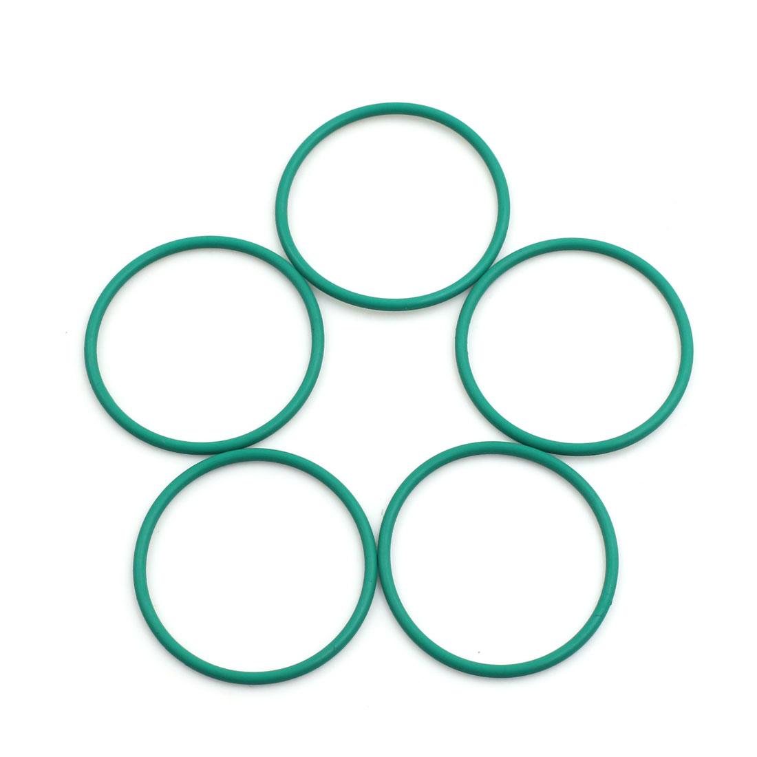 5pcs Green Universal FKM O-Ring Sealing Gasket Washer for Car 36mm x 2mm