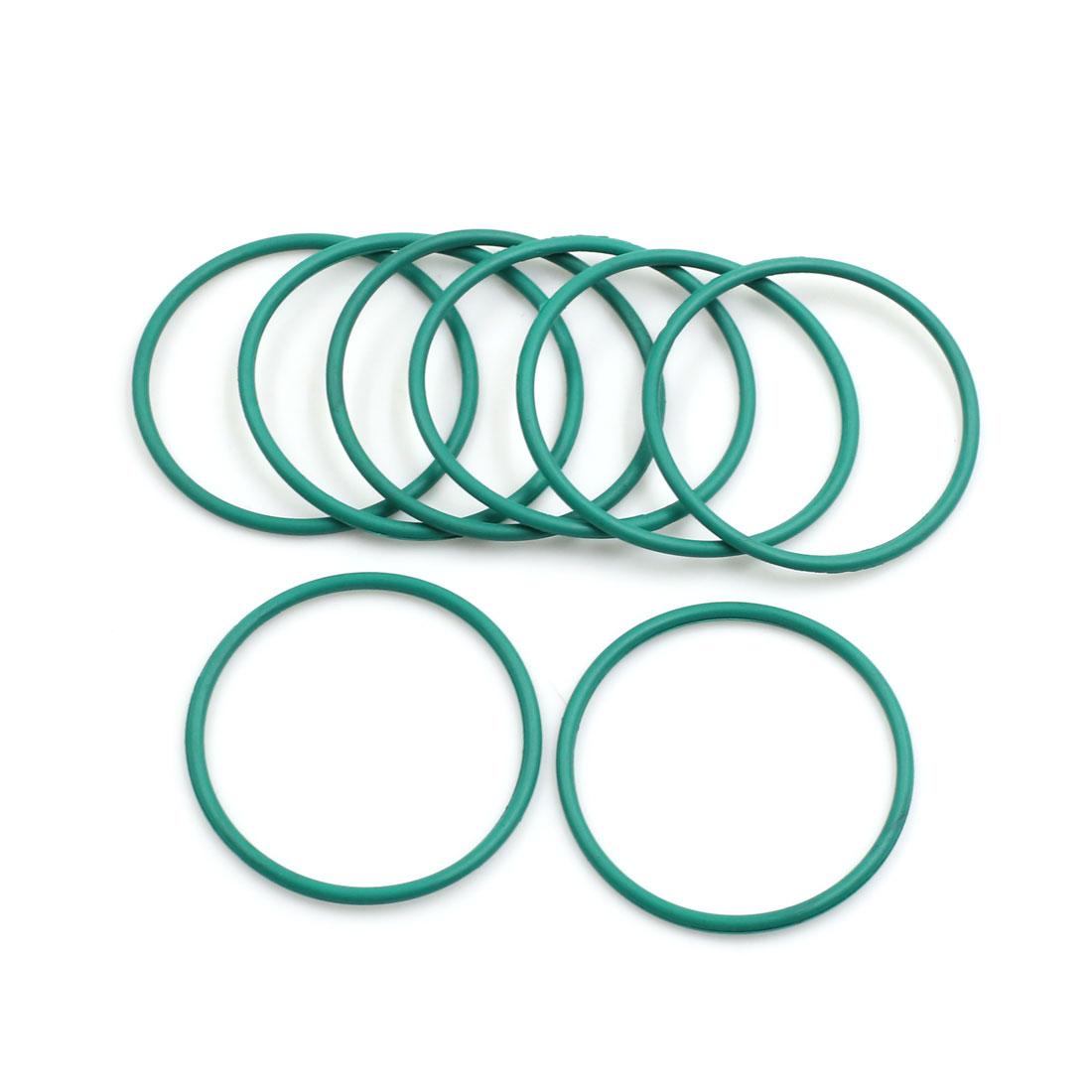 8pcs Green Universal FKM O-Ring Sealing Gasket Washer for Car 40mm x 2mm