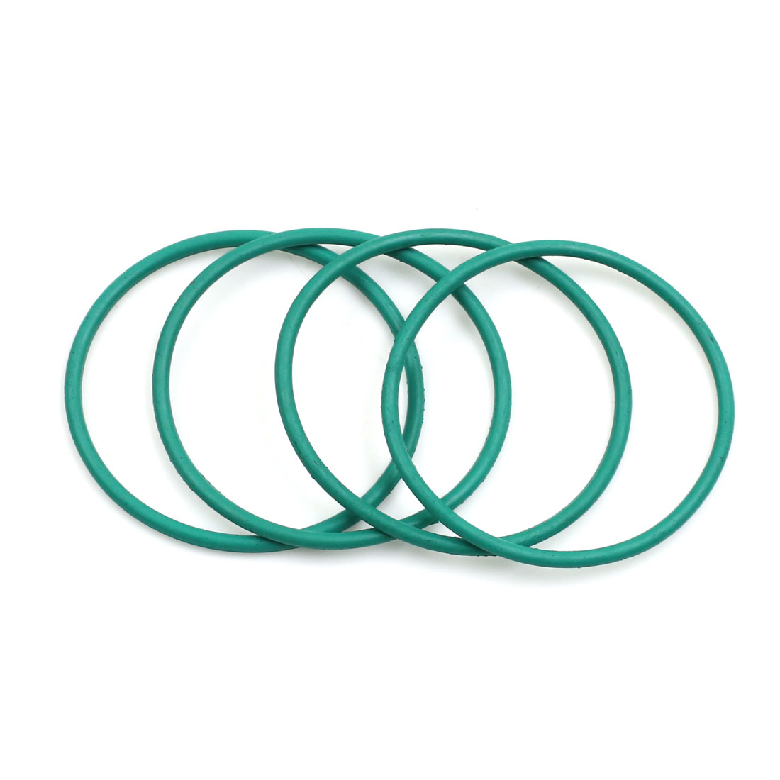 4pcs Green Universal FKM O-Ring Sealing Gasket Washer for Car 42mm x 2mm