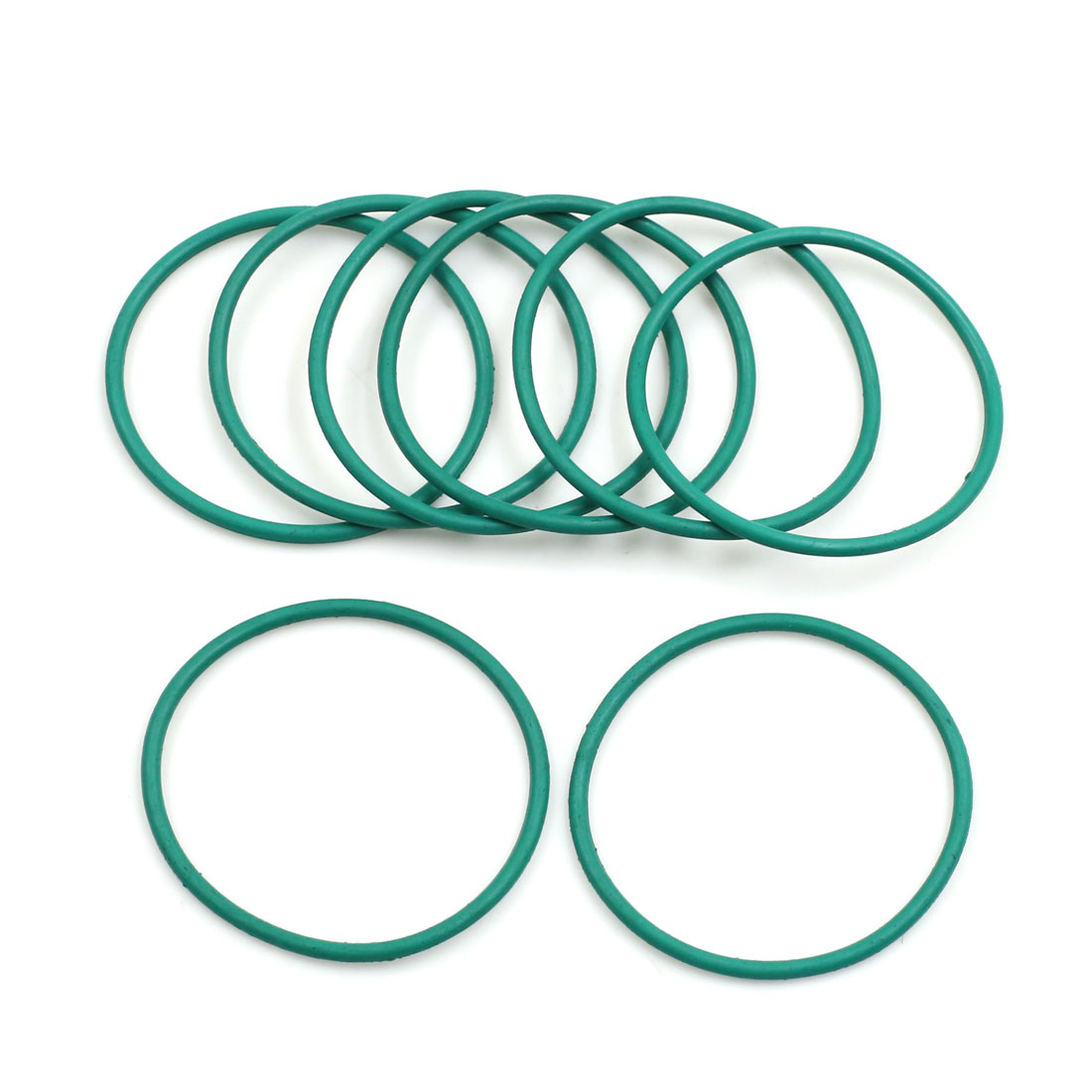 8pcs Green Universal FKM O-Ring Sealing Gasket Washer for Car 42mm x 2mm