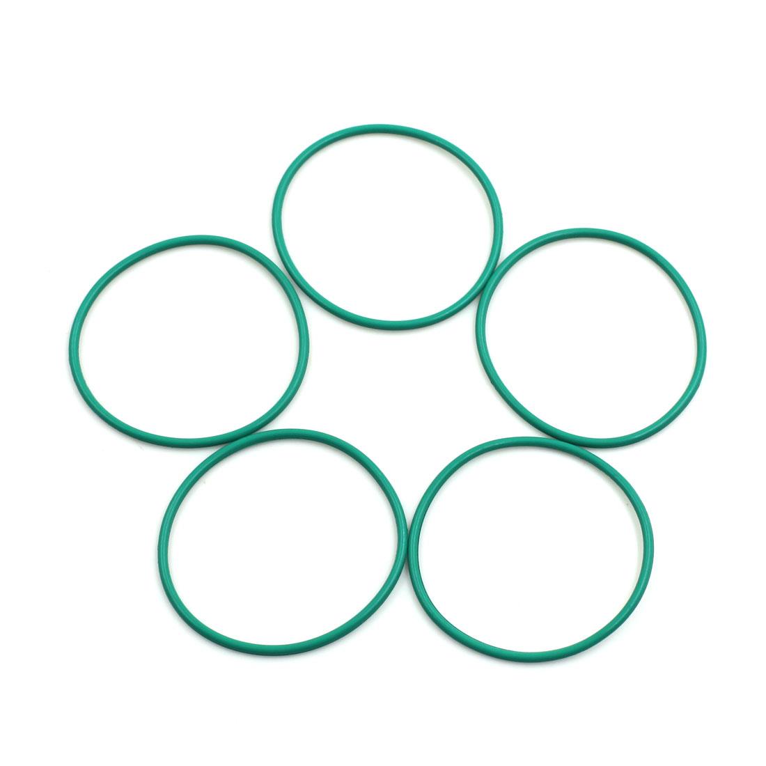 5pcs Green Universal FKM O-Ring Sealing Gasket Washer for Car 46mm x 2mm