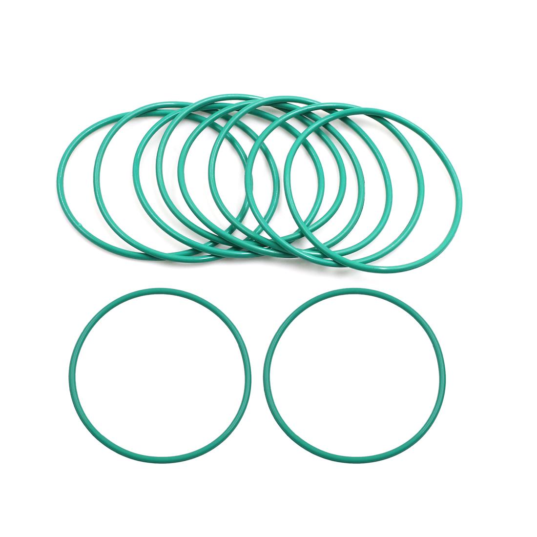 10pcs Green Universal FKM O-Ring Sealing Gasket Washer for Car 50mm x 2mm