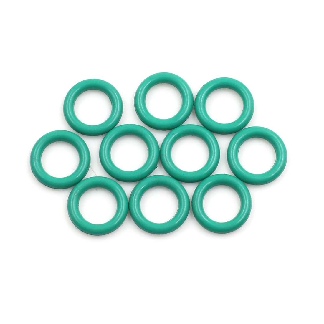 10pcs Green Fluorine Rubber O-Ring Seal Gasket Washer for Car 13 x 2.5mm