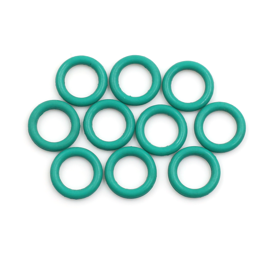 10pcs Green Fluorine Rubber O-Ring Seal Gasket Washer for Car 14 x 2.5mm