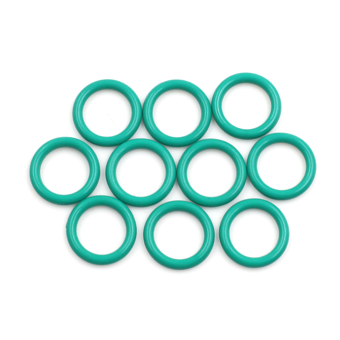 10pcs Green Fluorine Rubber O-Ring Seal Gasket Washer for Car 16 x 2.5mm