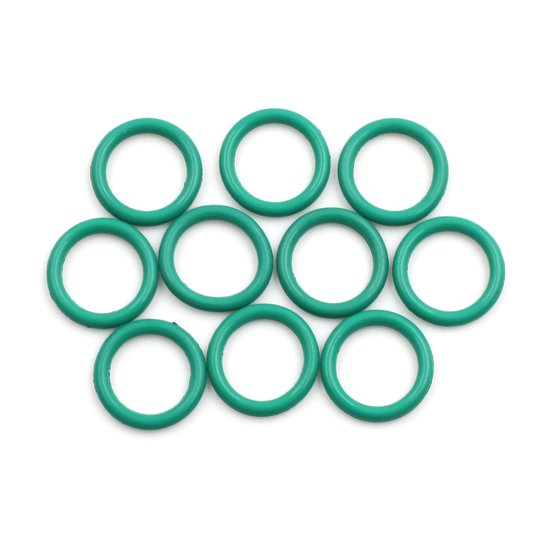 10pcs Green Fluorine Rubber O-Ring Seal Gasket Washer for Car 17 x 2.5mm