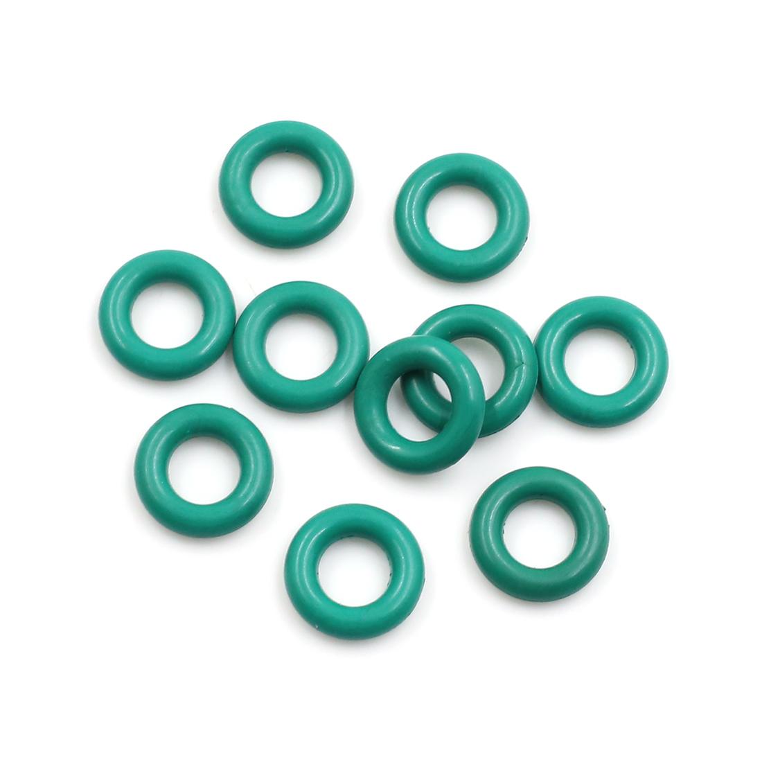 10pcs Green Universal FKM O-Ring Sealing Gasket Washer for Car 14mm x 3.5mm