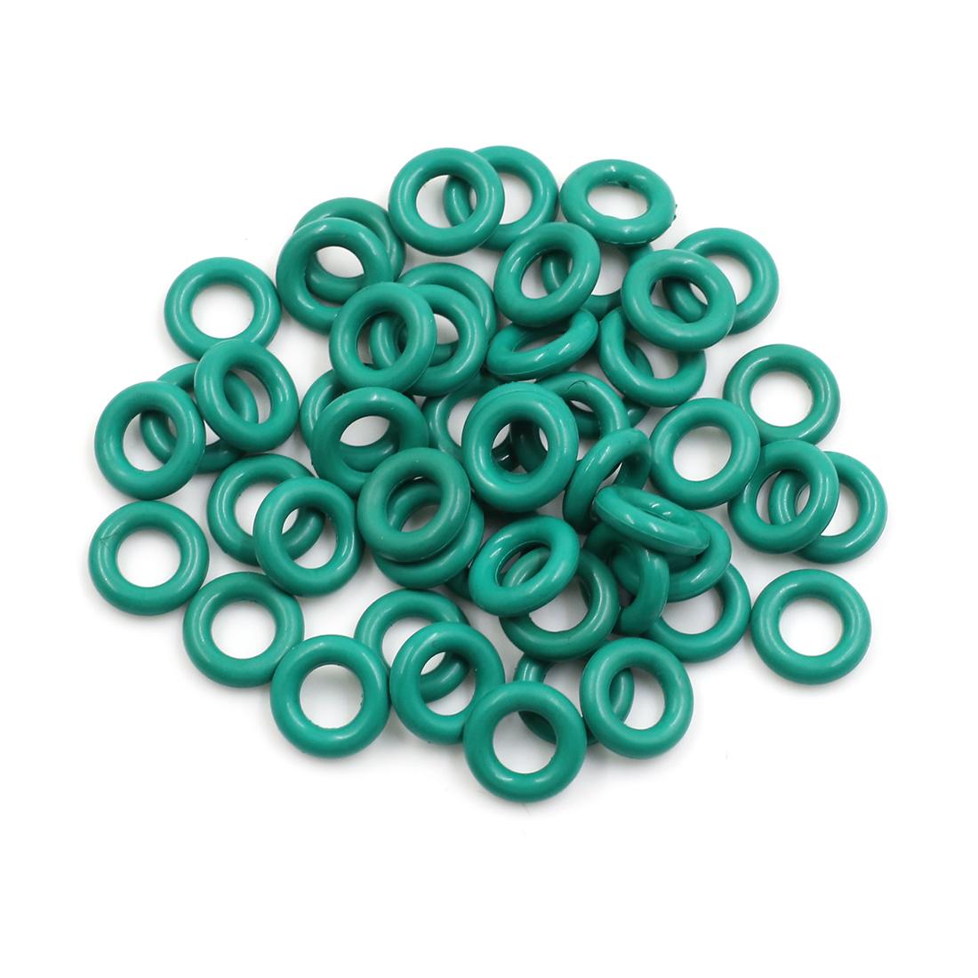 50pcs Green Universal FKM O-Ring Sealing Gasket Washer for Car 14mm x 3.5mm