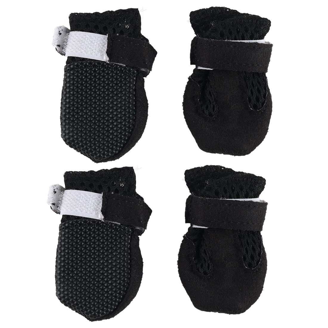 Dog Shoes Pet Boot Wear Resistant Breathable Hiking Paw Protector Black 4pcs, XL