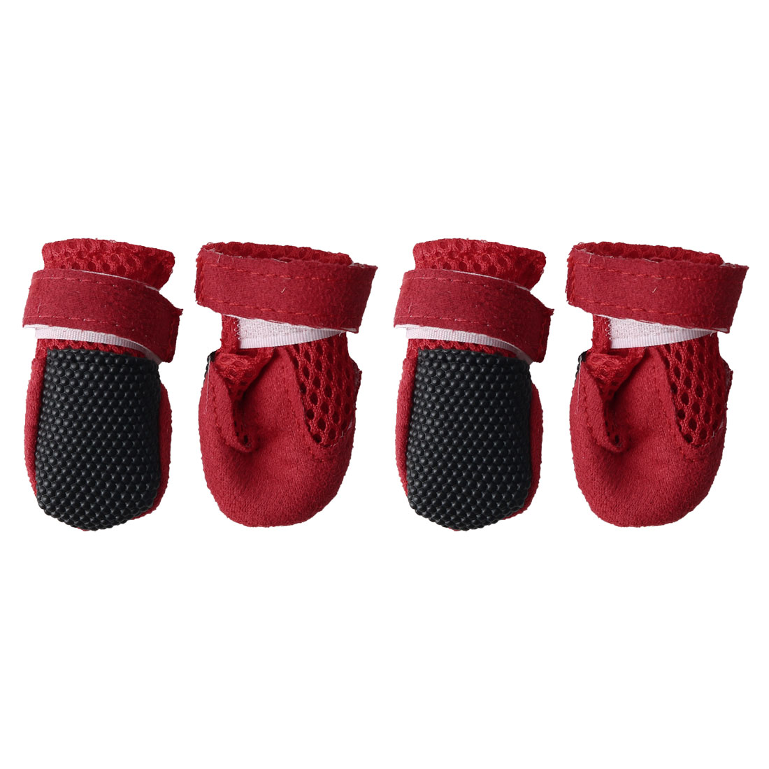 Dog Shoes Pet Boots Wear Resistant Breathable Hiking Paw Protectors Red 4pcs, S