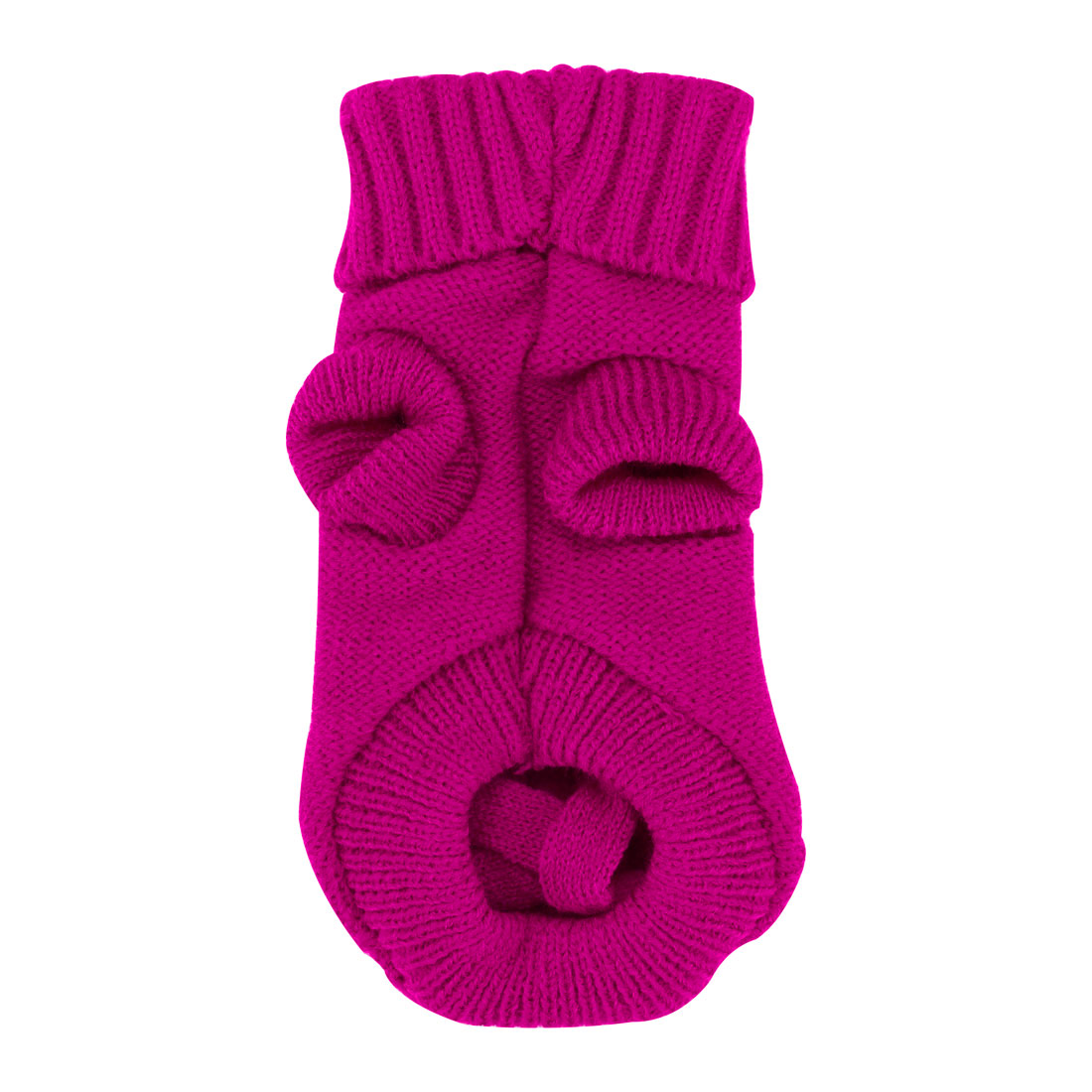 Pet Dogs Sweater Knitwear Coat Warm Dogs Clothes Winter Pet Custome Fuchsia, M
