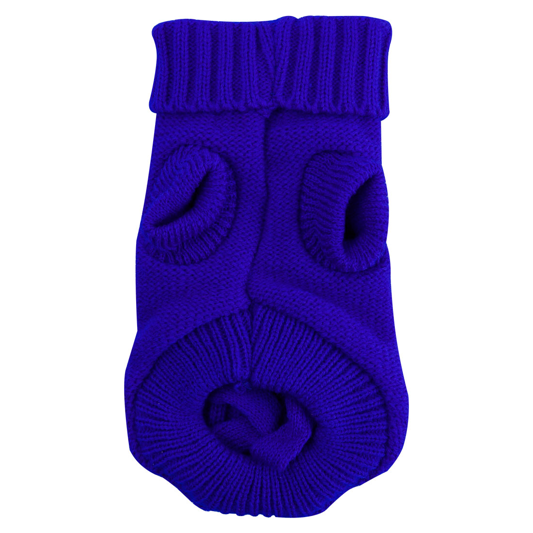 Pet Dogs Sweater Knitwear Coat Warm Dogs Clothes Winter Pet Custome Blue, M