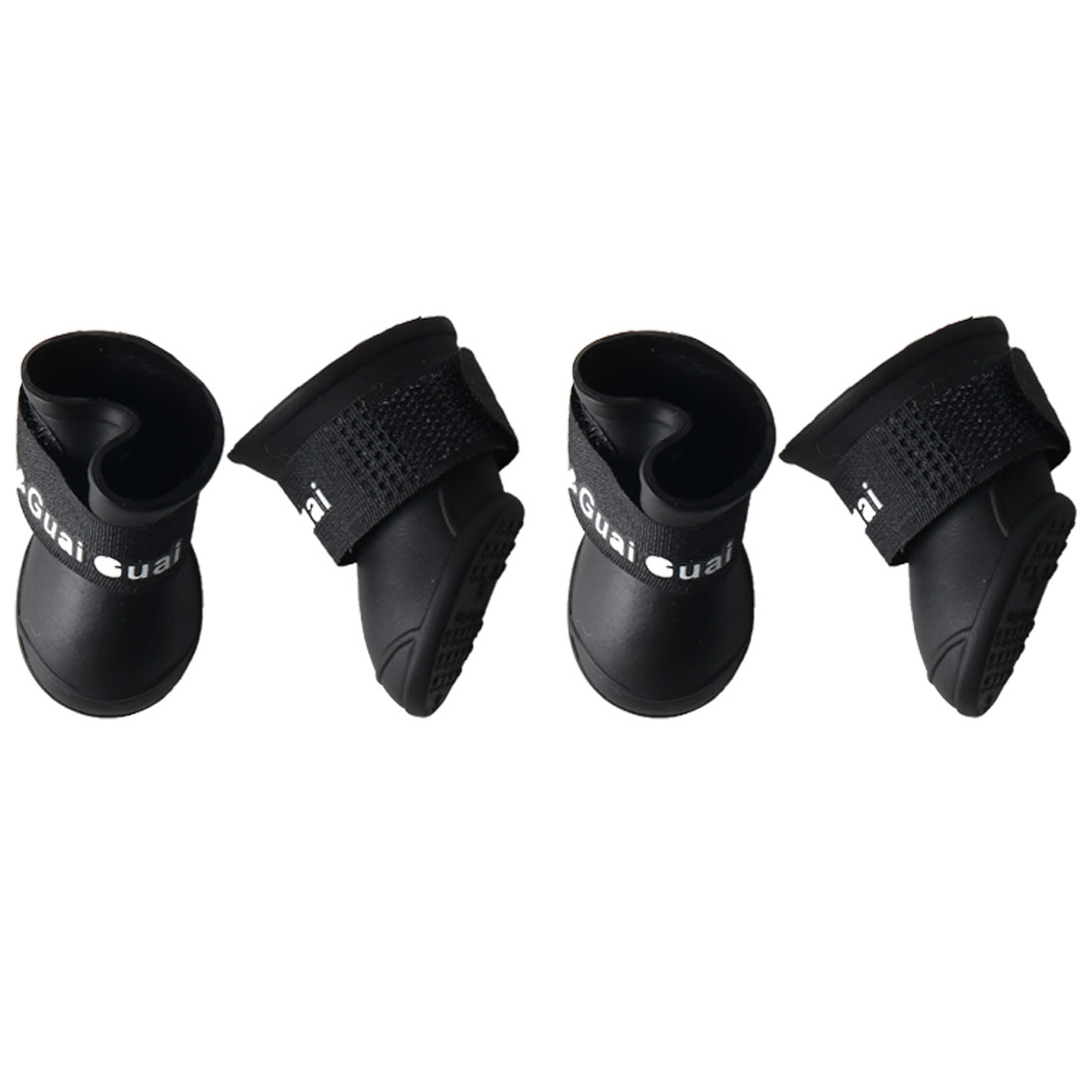 Dog Rain Shoes Pet Boots Water Resistant for Dog Paw Protectors Black 4pcs, S