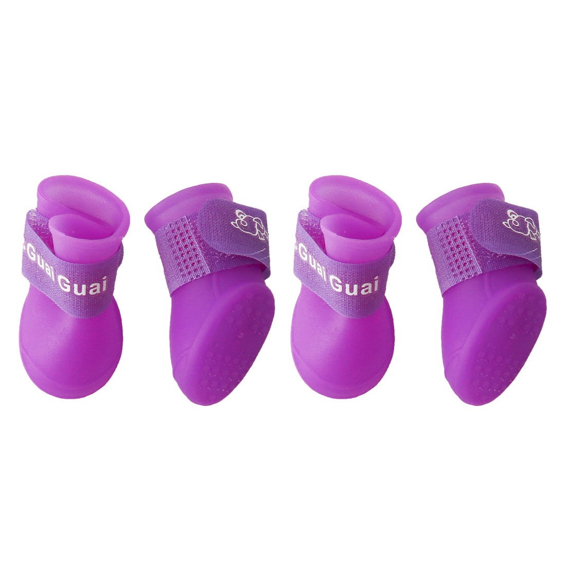 Dog Rain Shoes Pet Boots Water Resistant for Dog Paw Protectors Purple 4pcs, M