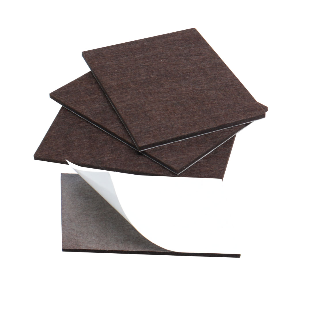 "Felt Pads Rectangle 5 7/8"" x 4 3/8"" Anti-scratch for Furniture Table Brown 4pcs"