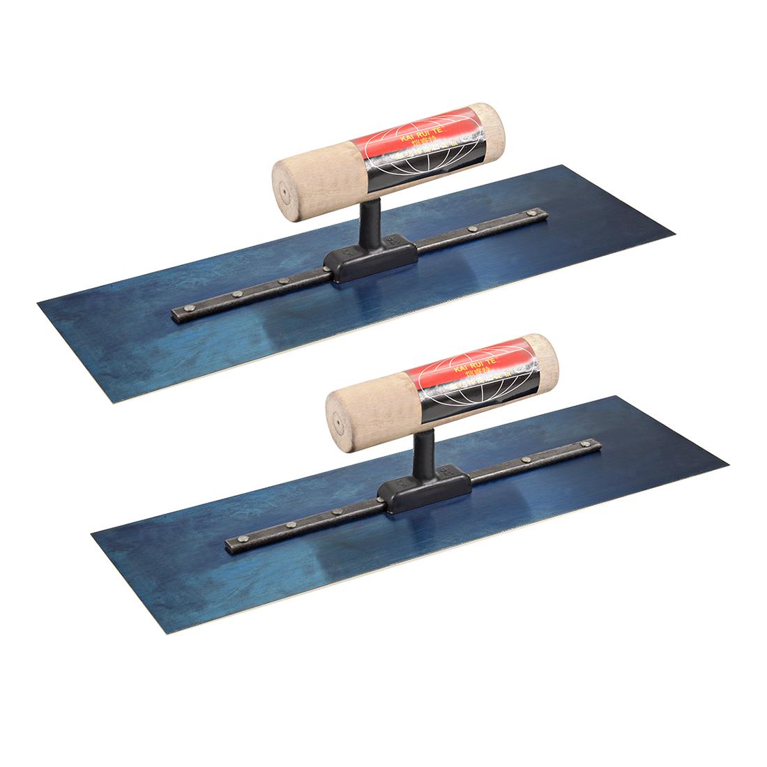 Masonry Hand Trowel Drywall Concrete Finishing Tool 12x4 Steel Wood Handle 2pcs
