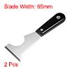 2x Putty Paint Scraper 65mm Stainless Steel Blade Wood Handle Wall Spackle Caulk