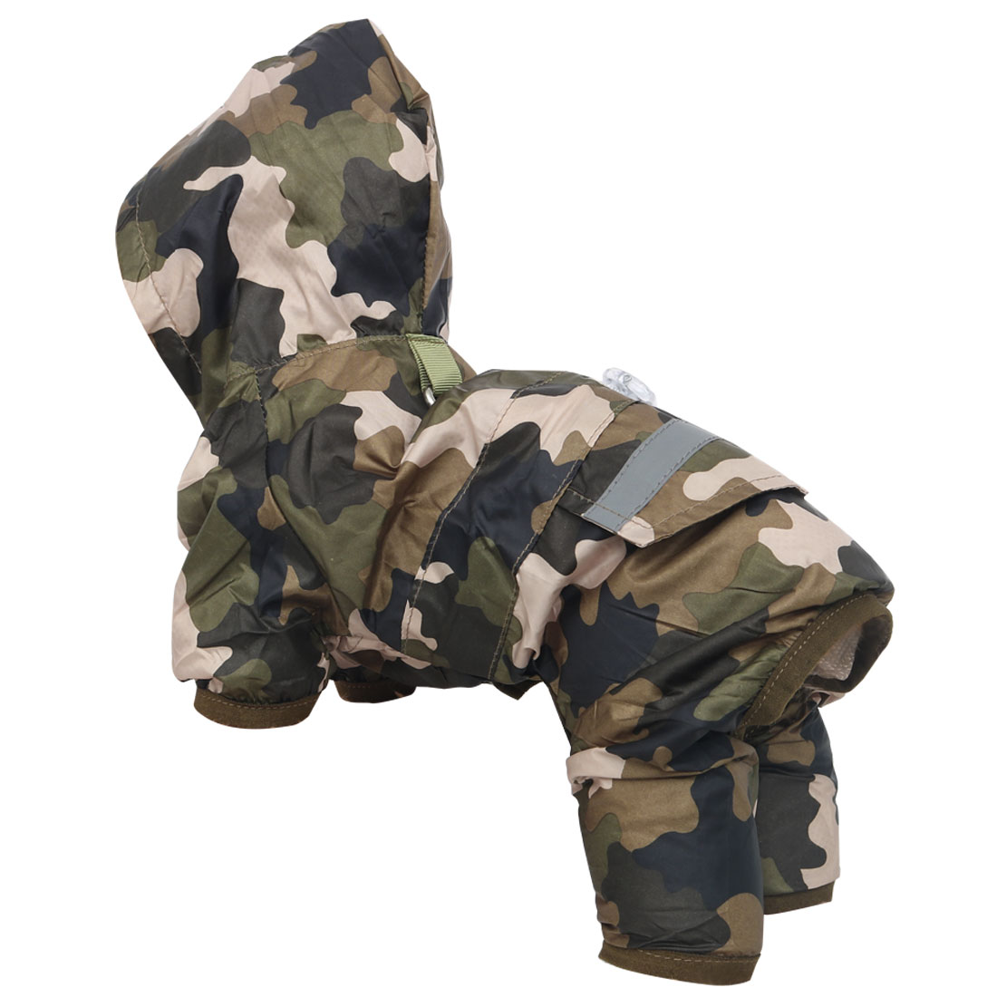 Pet Dog Raincoat Jacket Clothes Polyester Water-resistant Rainwear Camo Color S