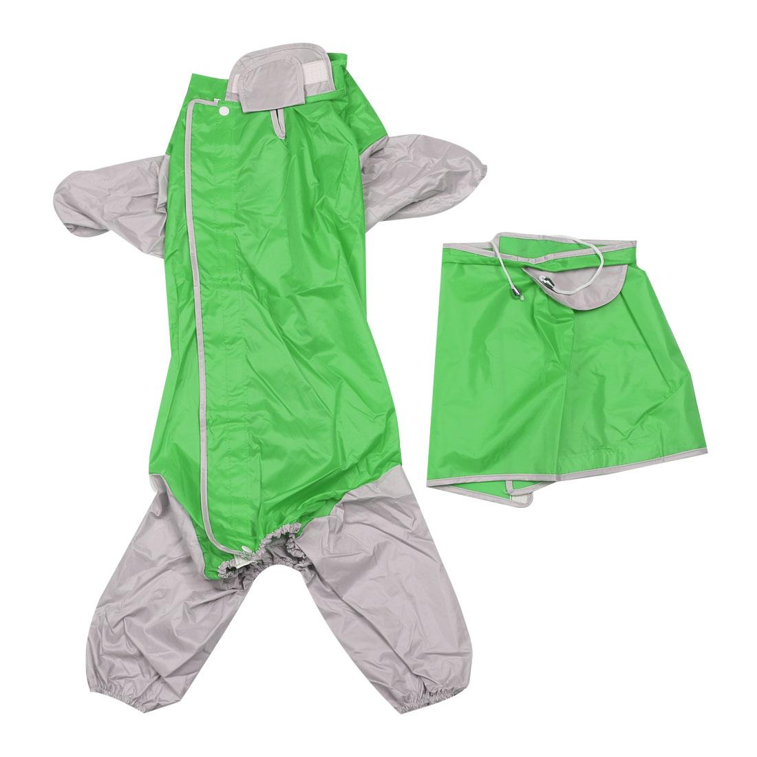 Pet Dog Raincoat Rain Jacket Poncho Clothes Dog Rainwears Green L
