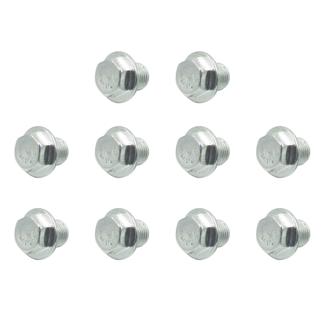 10pcs 17.5 x 16.5mm Car Silver Tone Magnetic Engine Oil Pan Drain Plug Bolt