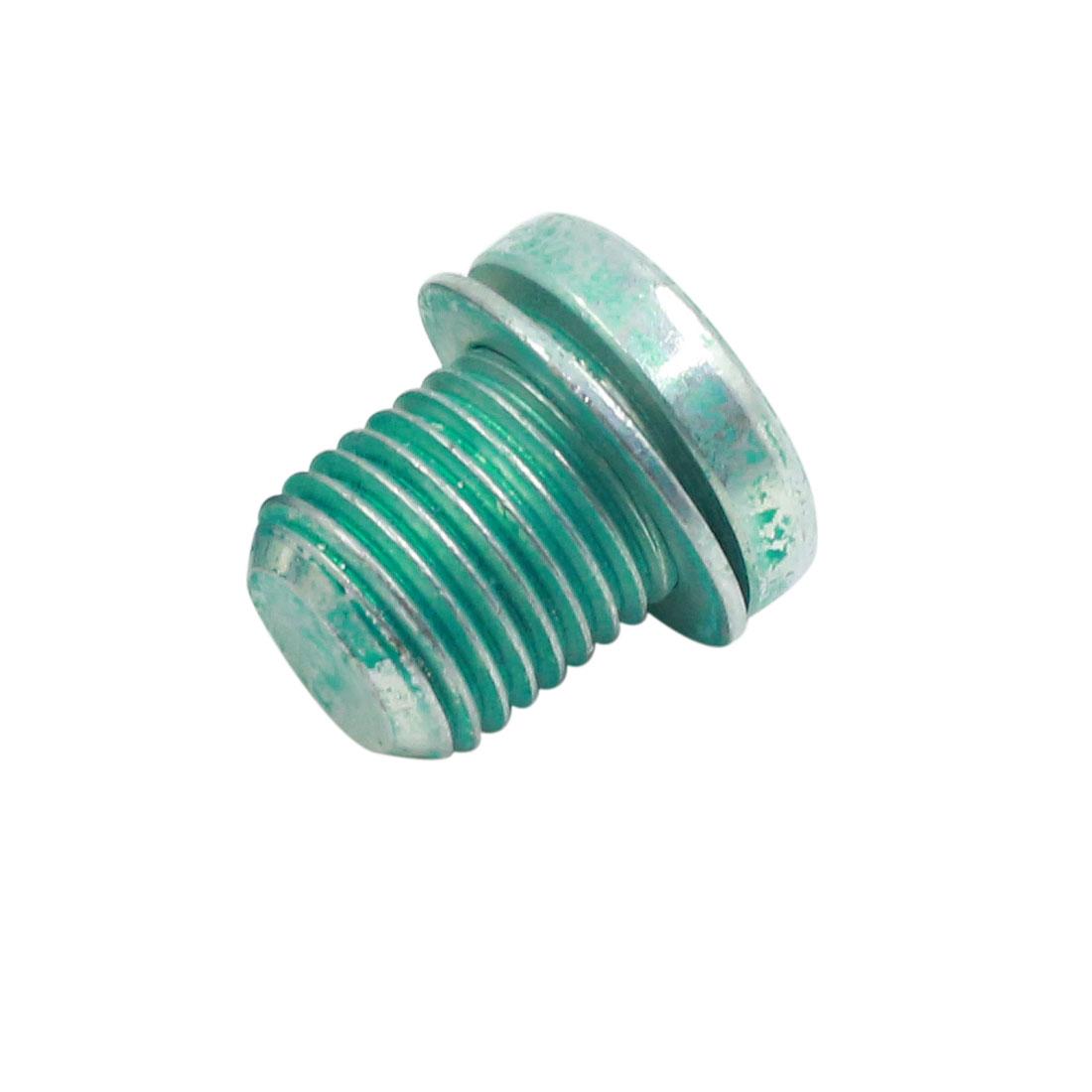 19 x 20mm Green Magnetic Engine Oil Pan Drain Plug Bolt for Automotive Car