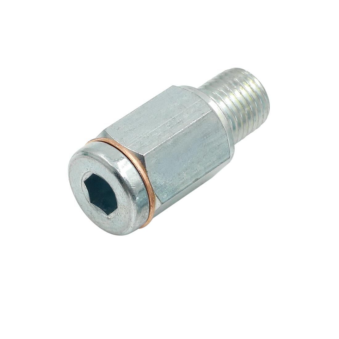 19 x 43mm Silver Tone Magnetic Engine Oil Pan Drain Plug Bolt for Auto Car
