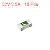 One Time 0603 SMD Fuse Surface Mount Chip Slow Blow Time Delay 32V 2.5A 10pcs